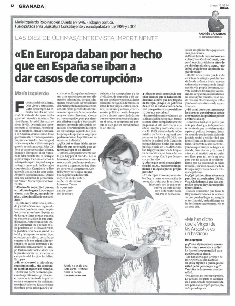 Entrevista Maria Izquierdo
